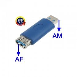 ADAPTADOR USB 3.0 MACHO-HEMBRA AZUL