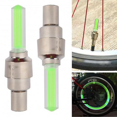 2x Tapón Luz LED para Válvula de Bicicleta