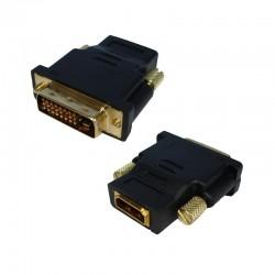 ADAPTADOR HDMI HEMBRA A DVI 24+1 MACHO