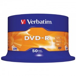 Tarrina de 50 DVD-R Verbatim 4,7GB X 16