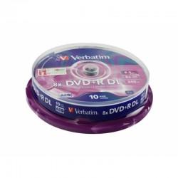 Tarrina de 10 Unidades DVD+R Doble Capa Verbatim 8 x 8.5 GB