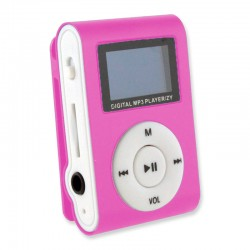 MINI MP3 CON PANTALLA LCD ROSA
