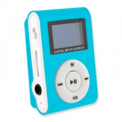MINI MP3 CON PANTALLA LCD AZUL
