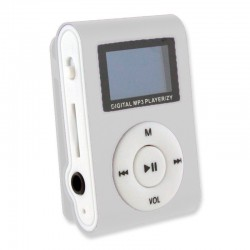 MINI MP3 CON PANTALLA LCD PLATEADO