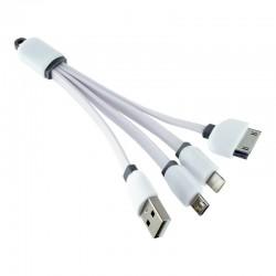 CABLE CARGADOR 3 EN 1 IPHONE MICRO USB