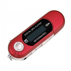 REPRODUCTOR MP3 GRABADORA RADIO ROJO
