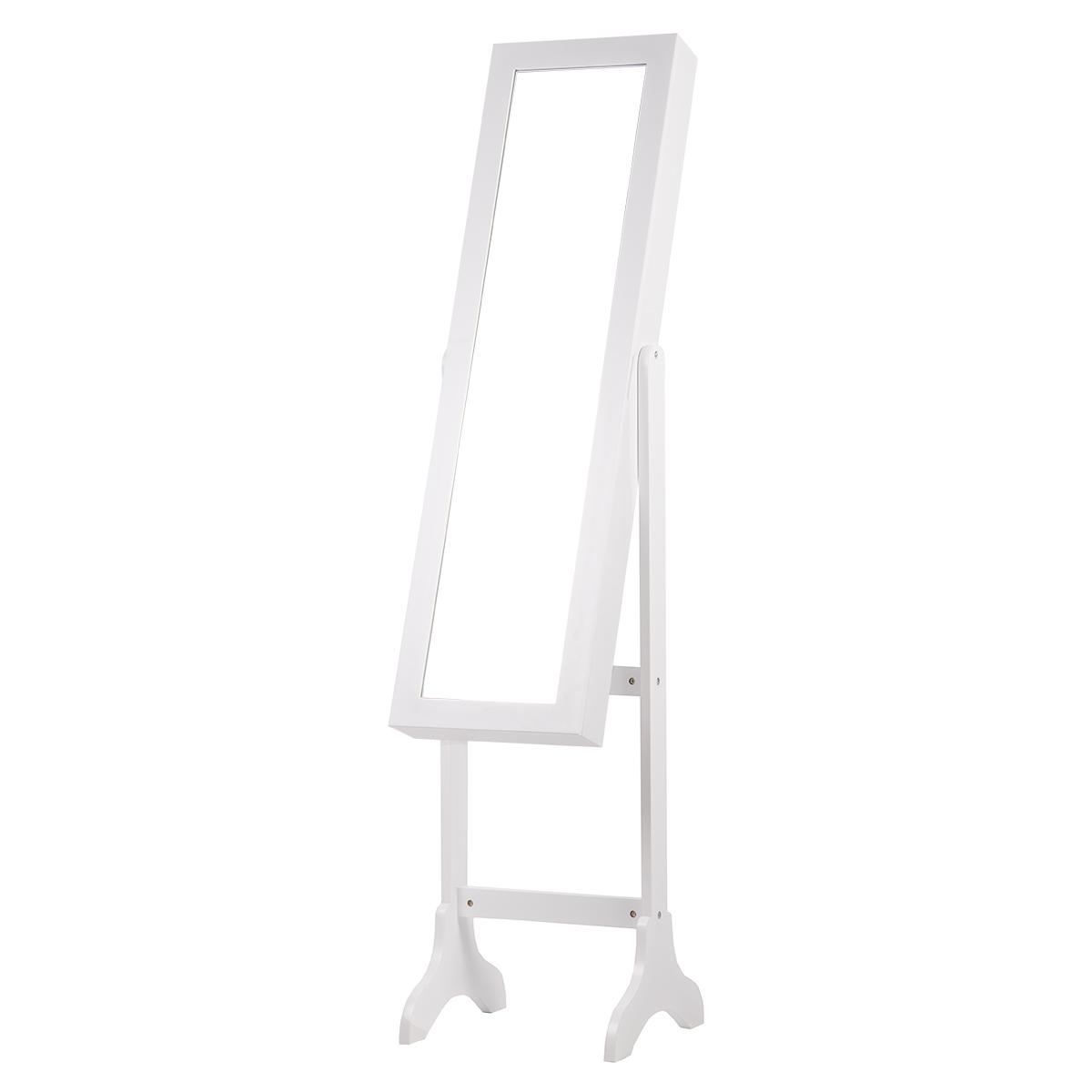 Espejo joyero vestidor tocador de pie armario cuerpo entero 155 x 35 x 35cm ebay - A que altura colgar un espejo de cuerpo entero ...