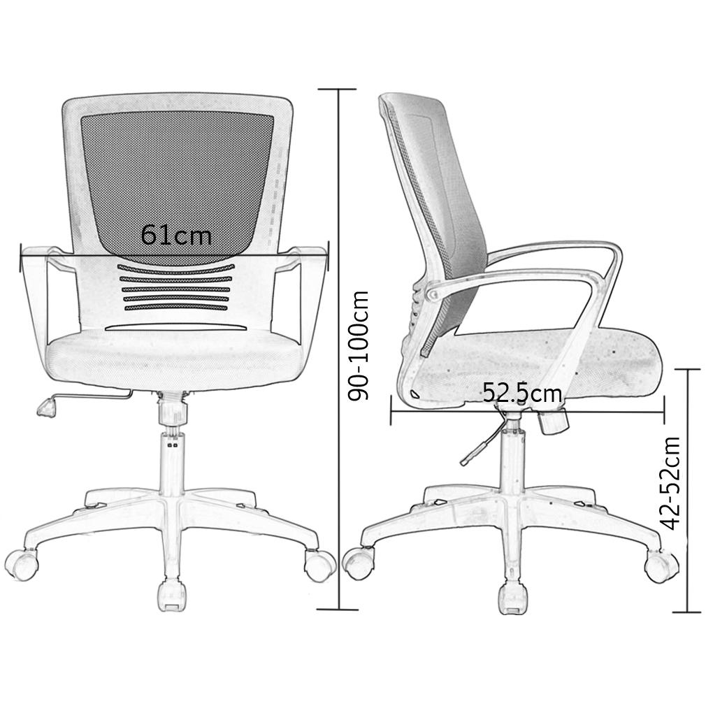 medidas silla oficina xiaoki